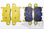 "PAGID Racing Brake Pads "" yellow "" - for steel brakes rear (17mm) 991 Turbo / GT3/ RS/GT4"
