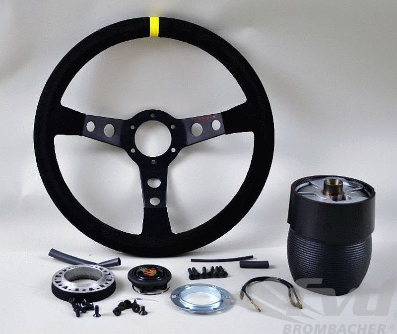 Steering Wheel Kit 964 / 965 - GT2 - Black Suede / Black Stitching