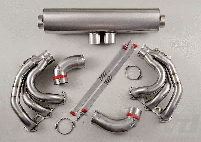 "90 mm Sport Exhaust System - 997 GT3 4.0 ""M&M"" Cat Bypass, Stainless Steel, Tips 2x90mm"