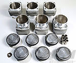 Mahle 3.8 L Piston & Cylinder Set - 964 (11.8:1) 107mm - Wide Rod Eye