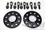 "Spacer 15mm Alu ""Black"" Set (2pc.) with Bolts, Macan"