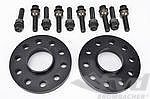 "Spacer 18mm Alu ""Black"" Set (2pc.) with Bolts, Macan"