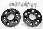 "Spacer 22mm Alu ""Black"" Set (2pc.) with Bolts, Macan"