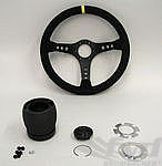 Steering Wheel Kit - ATIWE - Rally Series - Black Suede / Black Stitching
