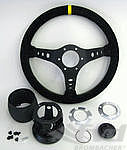 Steering Wheel Kit - ATIWE - Rally Series - Black Suede / Yellow Stitching