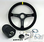 Steering Wheel Kit 964 / 965 - ATIWE - Rally Series - Black Suede / Black Stitching