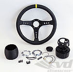 Steering Wheel Kit - ATIWE - Race Series - Black Leather / Black Stitching