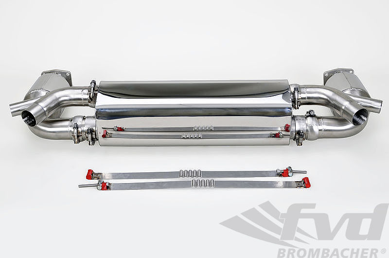 "Sport Exhaust System, 911 2014+ (991) Turbo/S ""Brombacher"" (Sound Version)"