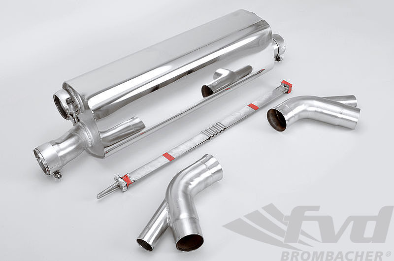 Sport Muffler 991.2 Turbo/S - Brombacher - Sound Version - For OEM Cats and Tips
