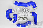 Reinforced Intercooler Hose Kit 996 Turbo / GT2 - Blue