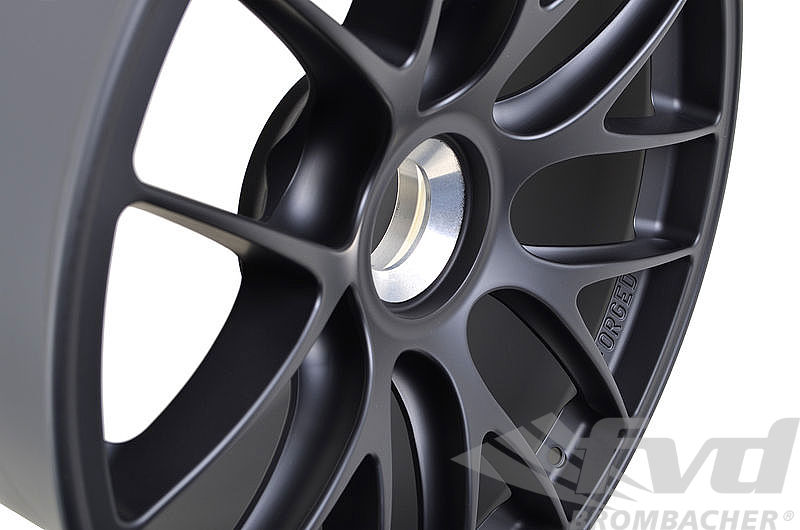 12x19 ET 47 BBS 1-pc. forged Motorsportwheel with center lock, GT3/GT2 RS 9,3Kg, black mat