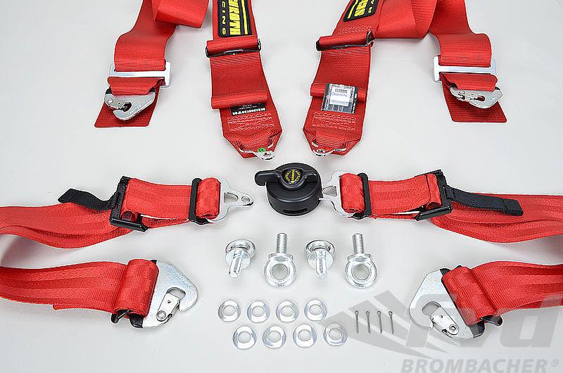 Schroth : Harnais D 4 pts Profi 2 ASM 76/50mm rouge FIA (fix