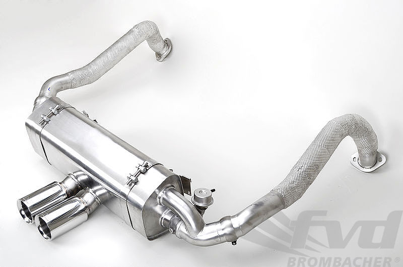 Sport Muffler 718 Cayman / Boxster (PDK only)- Brombacher Edition - Export Version with Exhaust Valv