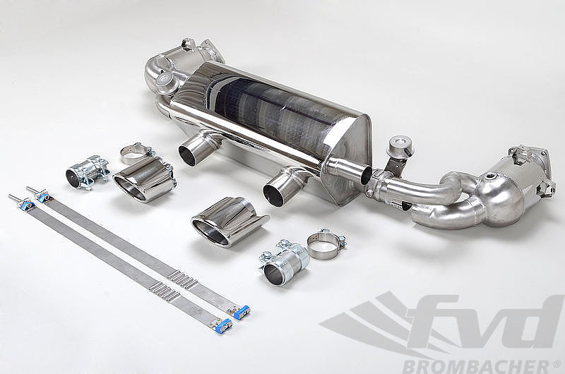 Valved Exhaust System 991.2 - Brombacher Edition - 200 Cell Cats - Polished Tips (PSE Only)