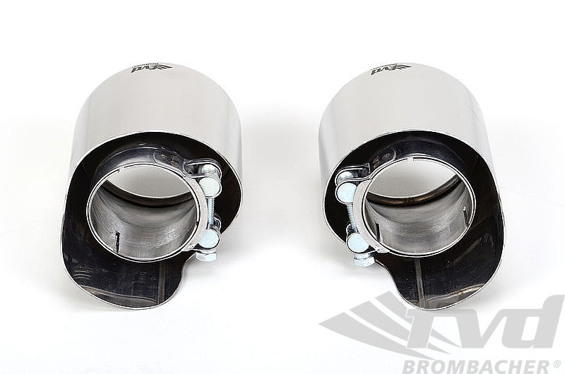 Exhaust Tips (2pc) 991.2 oval SS polished (110mm x 95mm)