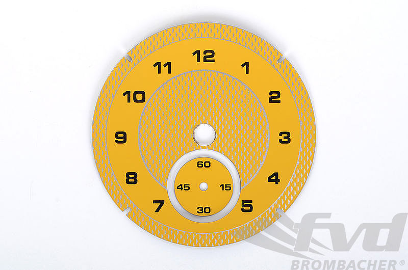 Instrument Face - Macan - Analog Clock - Speed Yellow