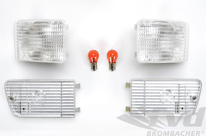 Turn Signal Set 964 / 965 - Front - Clear - Bosch - European Models Only