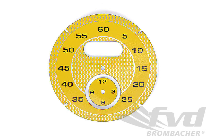 Sport Chrono Instrument Face - Racing Yellow - Diamond Pattern