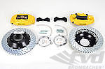 Sport Brake System - FRONT - BREMBO GT - YELLOW - 4 Piston - Drilled - 355 x 32 mm