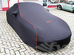 Brombacher Exclusive Cover 996/997 without rear spoiler black, orange stiching incl. FVD-Logo and ba