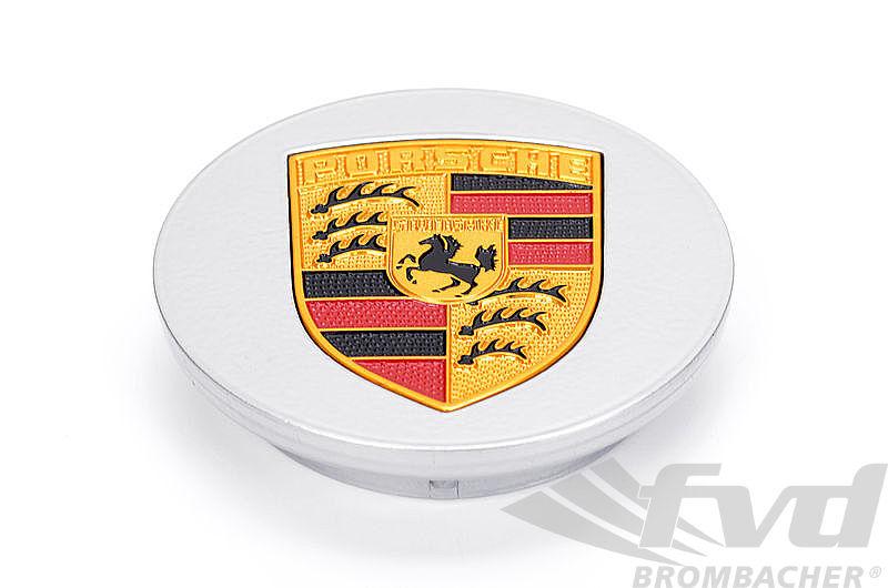 Porsche Center Cap Silver COLOR CREST