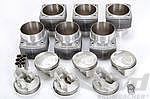 Mahle 3.0 Liter -> 3.2 Liter RSR Piston and Cylinder Set (10.3:1) 98 mm Big Bore for 911 3.0 L CIS