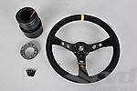 Steering Wheel Kit - GT2 - Black Suede / Black Stitching