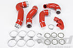 Reinforced Intercooler Hose Kit 996 Turbo / GT2 - Red