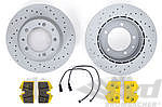 Brake service kit rear SPORT ( drilled discs + PAGID yellow) 944 Turbo (85-86)