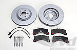 "Macan Brake service kit- FRONT (18"" - with discs, silver caliper )"