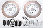 "Macan Brake service kit- REAR (17"" - with discs, silver,red,black caliper )"