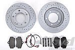 Brake service kit rear 986 ( drilled discs)