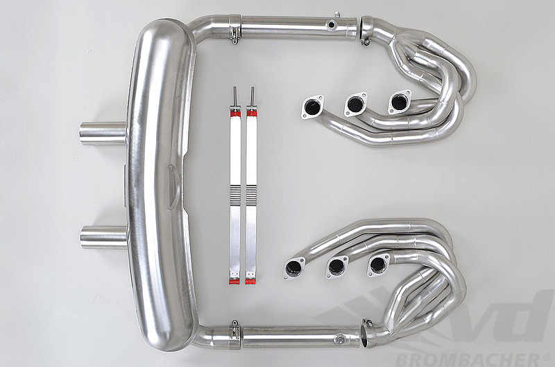 Brombacher Exhaust System 911 74-83 - Race - Without Heat - Bypass - Center Exit - Not US SC 80-83