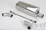 "Sport Muffler 991.2 ""Brombacher"" for cars without PSE"