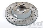 Brake disk rear left  991.1 / 991.2 S ( Steel-brake with Centerlock )