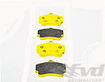 Racing Brake Pad Set - PAGID - RSL1 - YELLOW - REAR - 2406 RSL1 - 15.5 mm