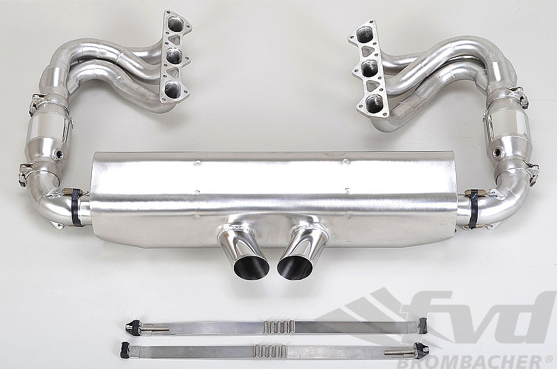 "Exhaust System 997.2 GT3/RS ""Brombacher"" Cat Bypass incl. RSR style tips"