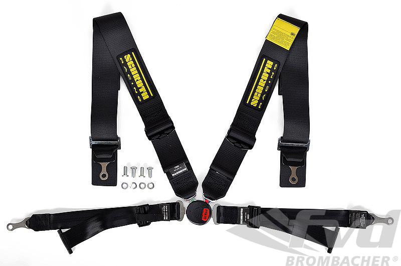 Harnais Schroth D 4 pts profi 2-FE ASM 75/50mm noir FIA (à