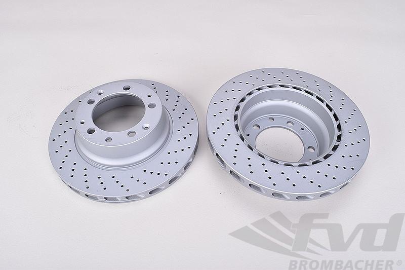 For Porsche 911 Turbo 78-89 Disc Brake Rotor Front Set of 2 ZIMMERMANN OEM New