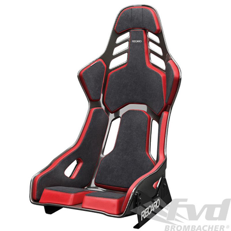 Recaro Podium Cushion Pads Black Alcantara Red Leather Size L Fia And European Tuv