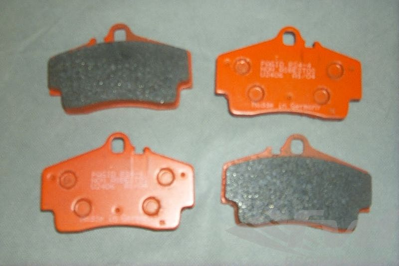 Racing Brake Pad Set - PAGID - RS - ORANGE - 2406 RS44