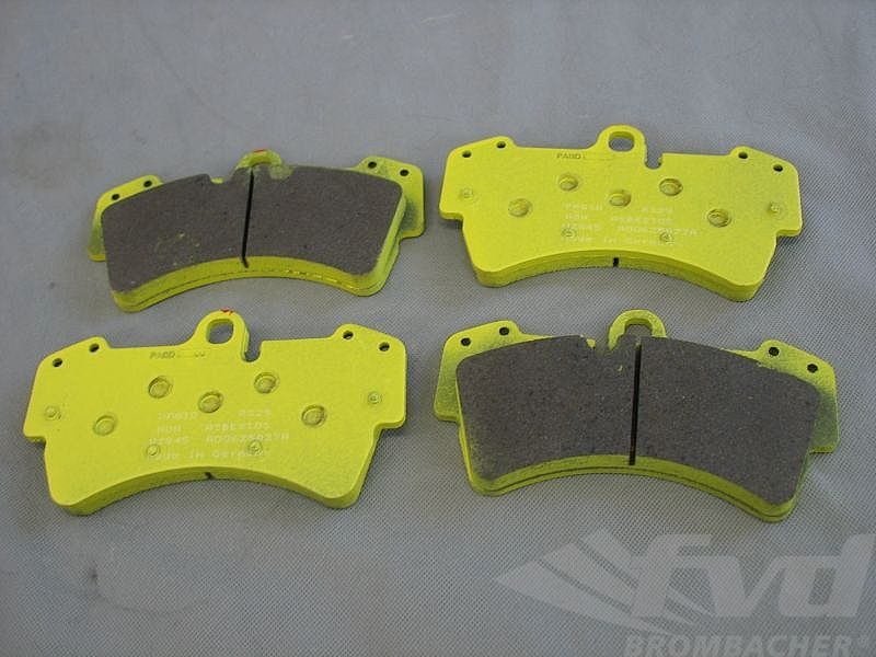 PAGID Racing Brake Pads - yellow