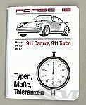 Book Types/Sizes and tolerances 911/930 84-87 german