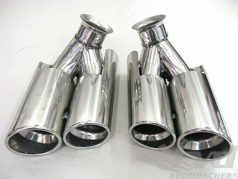 996 Dual  round Ø 91/83mm Tail Pipes (3.6L)