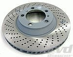 Brake disc 996GT3 cup front left Ø350x34mm (can replaced ceramic GT3/GT2)