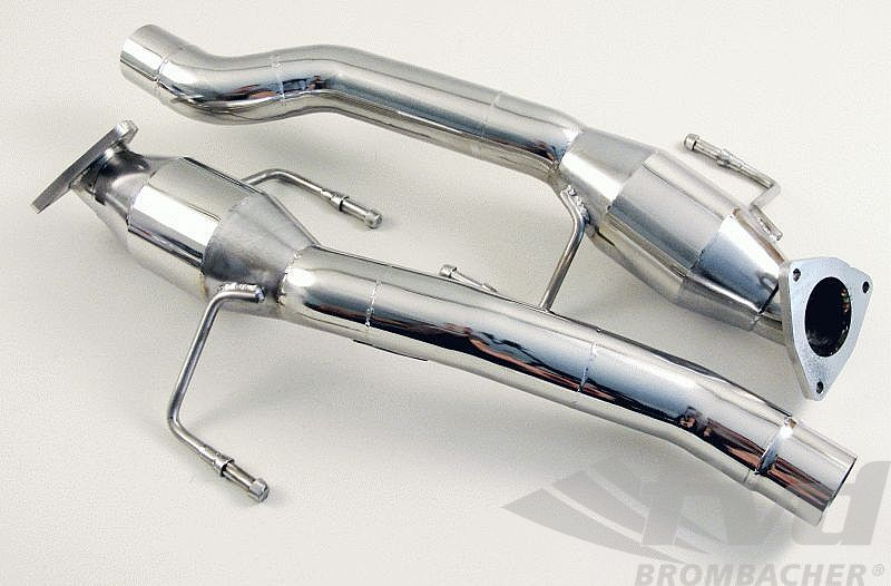 Secondary Cat Bypass Pipes Brombacher 955 Cayenne S