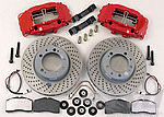 Big Red Brake System 964 C2 / C4 - FRONT - 4 Piston - 322 x 32 mm - Drilled Discs