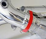 "End Muffler ""M&M"" RACE 996 3,6L  with 200 cell sport catalytics for OEM Headers"