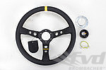 Steering Wheel - MOMO - Mod 07 - Black Leather