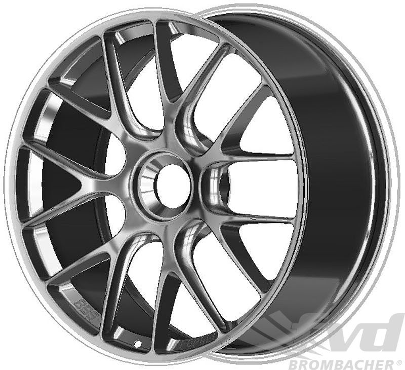 9x19 ET 47 BBS 1-pc. forged Motorsportwheel, anthrazit, with center lock, GT3/GT2 RS 8,1Kg